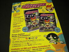 POWERPUFF GIRLS ...leading choice in November 2002 PROMO POSTER AD mint cond