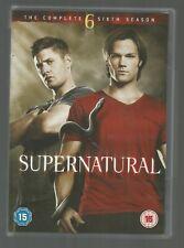 SUPERNATURAL 6 - COMPLETE SIXTH SEASON - UK R2 DVD (6-DISC SET) - vgc (as new)