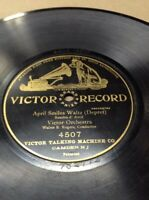 "1904 Victor Record 10"" April Smiles Waltz  #4507 78rpm FREE SHIPPING B50S11"