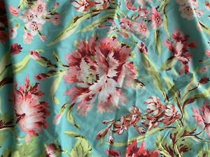 Carousel Designs Flora Blue W/ Big Flowers USA Fitted Crib Sheet