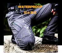 Men's Cargo Hiking Waterproof Trousers Tactical Combat Nylon Quick-Drying Pants