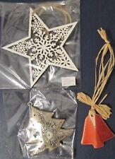 3 Stück Anhänger Deko Stern Glocke Weihnachtsbaum Baumschmuck Baumbehang