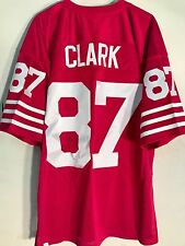 Mitchell and Ness Authentic NFL Jersey 49ers Dwight Clark Red Throwback sz 52