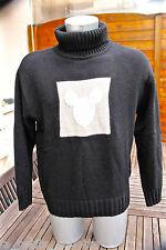 joli pull col roulé laine noir DISNEYLAND RESORT T. XL (42-44)  EXCELLENT ÉTAT