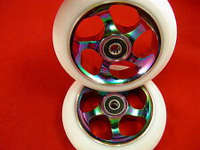 NEOCHROME SCOOTER WHEELS 110MM / 88A + ABEC 11 BEARINGS FITTED