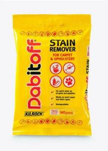 Kilrock Dabitoff Carpet & Upholstery Spot & Stain Remover Cleaning Wipes