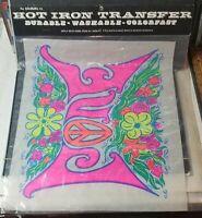 KAKAMAMIE 1970 RARE VINTAGE Tee-Shirt Iron Transfer LOVE PEACE HIPPIE PROTEST