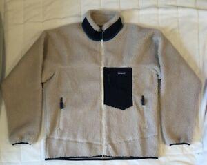NWT Patagonia Men's Classic Retro-X Fleece Jacket L Natural/Navy