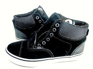 Vans Men's Era Hi Pig Suede Black/White Skate Shoes Size 8 M VN-0A348OM1L