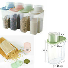 4 Large Cereal Dispenser Dry Food Pasta Rice Storage Container Large Plastic Box