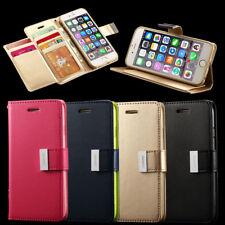 Luxe Magnétique Flip Portefeuille Leather Coque Housse pour Samsung Galaxy Apple