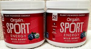 ORGAIN Sport Energy Wild Berry Pre Workout Powder Made Green Coffee Beans