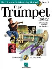 Play Trumpet Today Level 1 Instructional Book and CD NEW 000842052