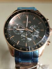 HUGO BOSS TROPHY ROSE GOLD STAINLESS STEEL CHRONO MENS WATCH HB1513632