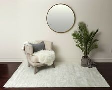 Super Soft Fluffy Hand Made Ivory/White Faux Sheepskin Area Rug Carpet