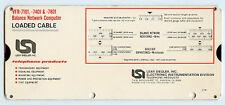 1979 Lear Siegler Balance Network Computer Calculator Slide Rule VFR-7101
