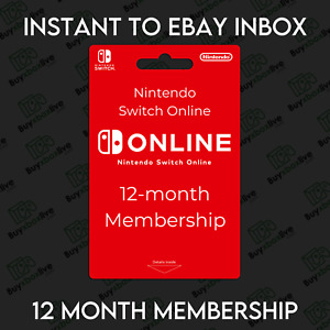 NINTENDO Switch Online 12 Month Membership 1 YEAR |  INSTANT 24/7