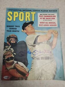 Mickey Mantle Autographed 1960 Vintage Sport Magazine comes of COA Yankees