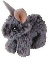 GREY FLUFFY BABY BUNNY CAT KITTEN PLAY TOY