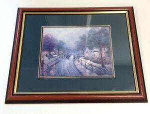 Thomas Kinkade Framed Print Hometown Memories I Walking To Church On A Rainy ...