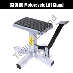 330LBS Dirt Bike Motorcycle Lift Motorbike Repair Stand Lifter Work Bench