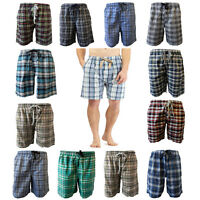 Mens Check Over Knee Long Summer Shorts Elasticated Bermuda Beach Cropped