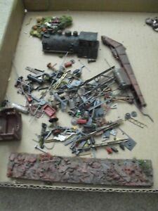 Lot of HO Scale Small Scenery Accessories for Trainyard Loco Shell and More