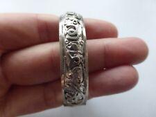 bracelet ancien enfant argent massif 2 poinçons crabe 15 gr  largeur 4,5 cm tbé