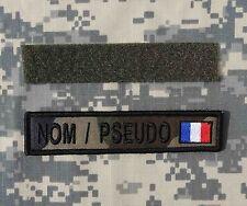 ECUSSON NOMINATIF / BANDE PATRO CAMO + FRANCE airsoft paintball SWAT