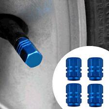 4Pcs/lot Car Truck Bike Tire Tyre Wheel Hexagonal Ventil Valve Stems Cap Blue