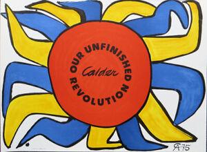 Alexander CALDER Our Unfinished Revolution 1976 Original Lithograph 22 x 28