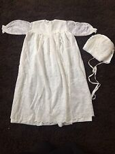 Beautiful Handmade Christening Gown And Hat