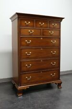 HICKORY CHAIR Mahogany Tall Chippendale Chest of Drawers