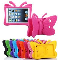 Kids Butterfly Stand Rubber EVA Foam Shockproof Case Cover For Apple iPad Series