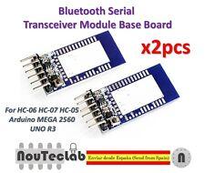 x2pcs Bluetooth Serial Transceiver Module Base Board Arduino HC-05 HC-06 HC-07