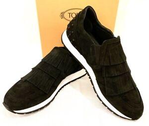 """TODS """"SPORTIVO YO FRANCIA"""" Damen Sneakers schwarz Leder black Leather NEU BOX!"""