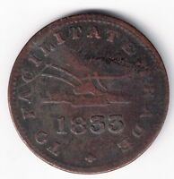 1833 HALFPENNY TO FACILITATE TRADE UPPER CANADA CANADIAN COLONIAL TOKEN UC-12B2