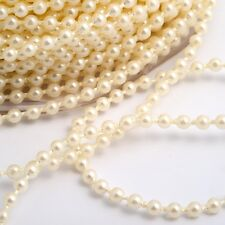 3mm Wide Ivory Pearls on a Roll - 25m roll Wedding Decoration Craft