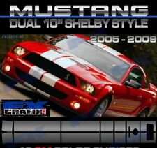 "2005 - 2009 Ford Mustang Dual 10"" Factory Style Cobra Racing #1 Quality Stripes"