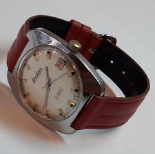 Vintage OMIKRON Silver Dial Hand Winding FHF-ST cal. 96-4 Swiss Wristwatch