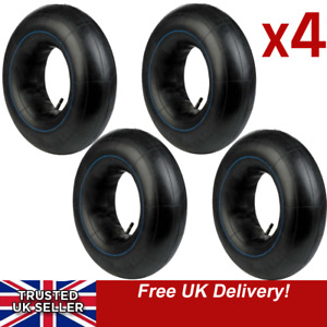 """Four 10 INCH TRAILER TYRE INNER TUBES 10"""" 145x10 500x10 FITS OLD MINI 145r10 4x"""