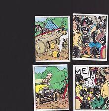 Herge Tintin Panini 1989 autocollant 4 im 29 30 31 32