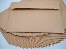 "25 Kraft Recycled 180x130mm Envelopes Brown Natural Fits 5""x7"" Photo FREEPOSTAGE"
