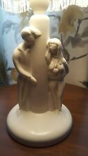 Vintage Rare Table Lamplight C 1950s Jersey Pottery Boy & Girl Figures