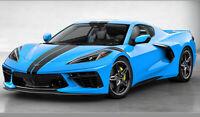 2020 Chevrolet Corvette C8 Blue w/Black Stripe 1:18 Resin Pre-Order GT Spirit