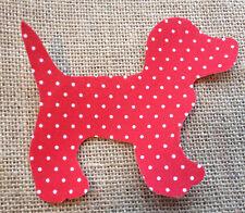 Fabric Iron on Red Polka Dot Dog- Bunting Making - Personalisation