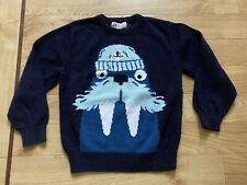 H&M Navy Blue Knit Walrus Christmas Jumper 2-4 Years