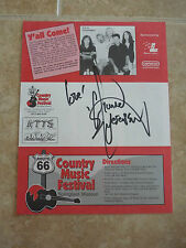 Michael Peterson Signed Autograph Paper Page 1998 Flyer