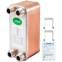 40 plates DOUBLE WALL Brazed plate heat exchanger BL14DW-40