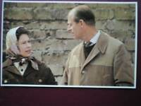POSTCARD ROYALTY QUEEN & PRINCE PHILIP AT BADMINGTON 30 YEARS OF E II R